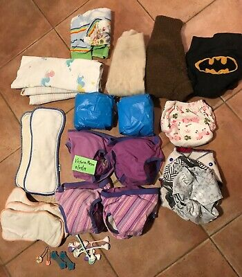 Cloth Diaper Variety Lot - Multiple types and materials
