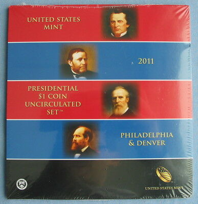 2011 P & D US Mint Presidential $1 8-Coin Uncirculated Set *Sealed* (dollar)