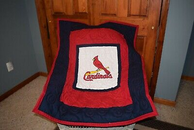 Baby Crib Quilt M/W St Louis Cardinals Fabric