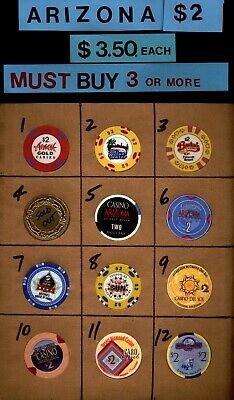 (18) Arizona & Vegas $2  Blue Water Desert Diamond Gila River Harrah's  Mazatzal