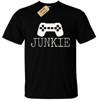 KIDS BOYS GIRLS Junkie Gamer Graphic T-Shirt Nerd Geek gaming tee
