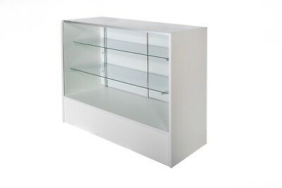 Glass Display Counter 1200L- White