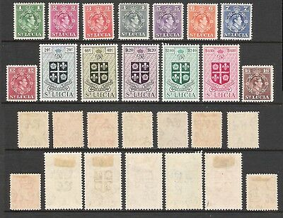 St LUCIA 1949 KGVI SET TO $4.80 (HM) (SG 146/159) £30