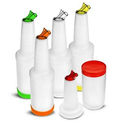 Store and Pour Mixers / Bottles Bar Set - 4 Bottles with Lids- Various Colours