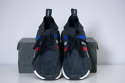 3230fc6008d07 Adidas NMD R1 PK NMD R1 Primeknit Tri Color Black Stripe USED BB2887 Size 8  US