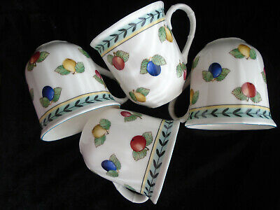 VILLEROY&BOCH   PORCELAIN  - FRENCH   GARDEN -  set  of  4  new  mug  10 oz .