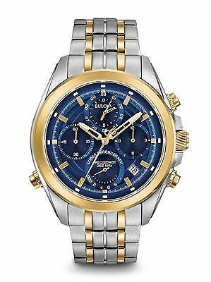 Bulova 98B276 Precisionist UHF 262 kHz vibrational frequency Chronograph Watch