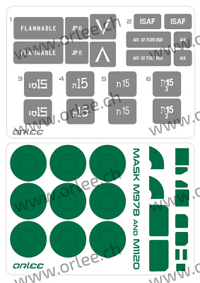 Stencil / Mask HEMTT M978 and M1120 + mask plus by APA scale 1:35  code 000080