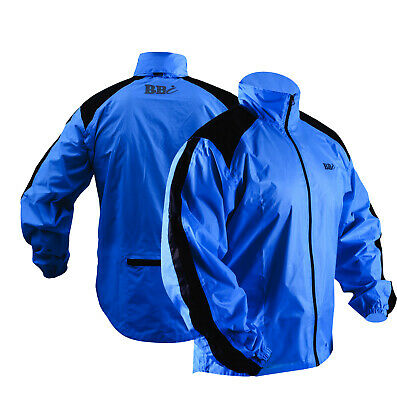 CYCLING JACKET HIGHLY VISIBILE Blue  WATERPROOF Top Quality Heavy Rain Cover