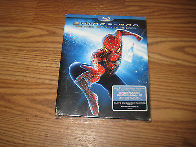 Spiderman Spider-Man 1 2 3 High Definition Trilogy BLU-RAY Set~ NEW and SEALED!