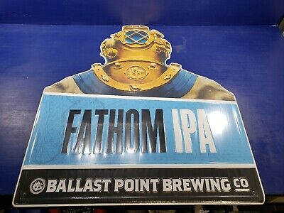 BALLAST POINT FATHOM IPA METAL TACKER SIGN craft beer brewery brewing