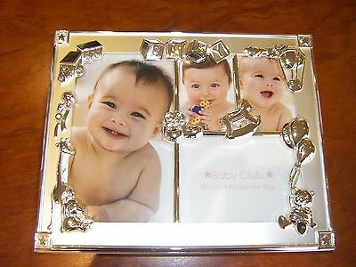 BRAND NEW Baby Girl Wooden Photo Keepsake Box-Baby Shower, Newborn Gift