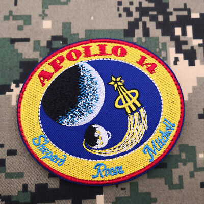 APOLLO 14 Shepard, Roosa, Mitchell Hook Patch Embroidered Nasa Space Astronaut