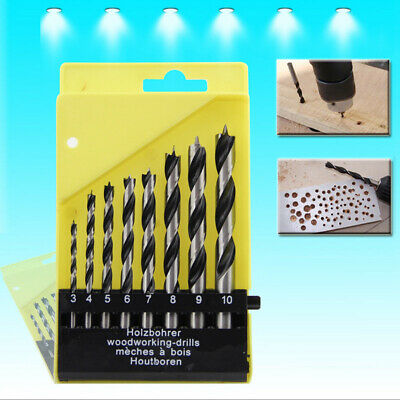 8pcs Wood Drill Bit Brad Point Drilling Set 3mm-10mm For Woodworking Building