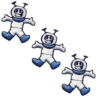 Spaceman Applique Patch - Astronaut, Outerspace, Space (3-Pack, Mini, Iron on)