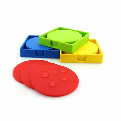 Various Color Premium Rubber Silicone Hot Drink Coasters Placemat Hot