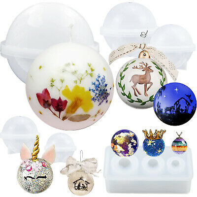 Sphere Resin Silicone Mould Jewellery Casting for Pendant Charm Soap Bath Bomb