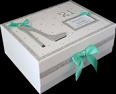 30th 60th Birthday Gift Large PERSONALISED Memory Box Keepsake MORE COLOURS