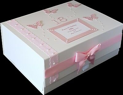 18th Birthday Gift Large Memory Box Mum Daughter Sister Pink More Colours 16th