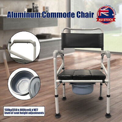 Adjustable Shower Toilet Bedside Commode Chair Toilet Aid Stool with Potty J