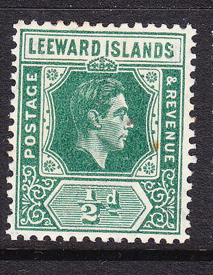 Leeward Islands 1938 Geo V1 ½d Green Mint # 96