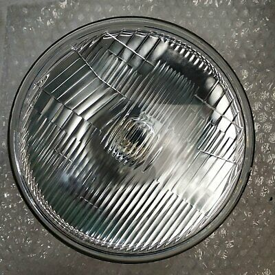 "7"" Semi Sealed Beam 178mm Round Curved Glass Std Lense Headlight Pair H4 Type"