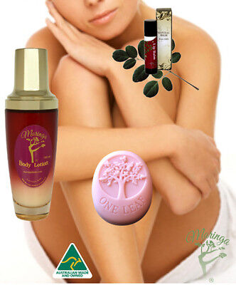 Moringa Skin Care Package including Body Lotion, Lotion Bar & Lip Balm Gift Pack
