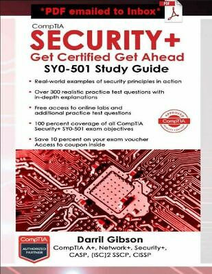 CompTIA Security+ Get Certified Get Ahead by Darril Gibson Paperback 4th Edition