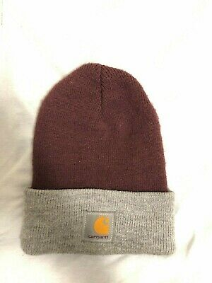 bbc552abb0c20e Carhartt WIP Men's Acrylic Thick Knit Durable Warm Winter Snow Hats Beanie  RED