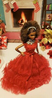 2018 Holiday Barbie  Model Muse Fashion Dress Gown Jewelry & Shoes   No Doll