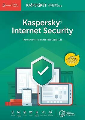 Kaspersky Internet security 2019 3 PC Device 1 Anno Originale - Fatturabile
