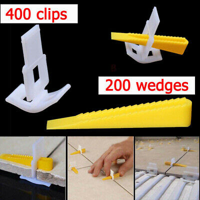 Tile Leveling System Locator Plier/Clips Wedges Floor Wall Plastic Spacers Kit