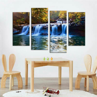 Beautiful Frameless Quadruple Painting HD Print Canvas Mural For Home Decoration