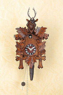 Quarter-Hour Striking Cuckoo Clock with 1 tag kettenzugwerk Chain-Driven