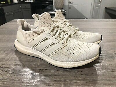 f8d694b11fe8b Adidas Ultra Boost 1.0 Triple White OG Kanye West Men s Size 10.5