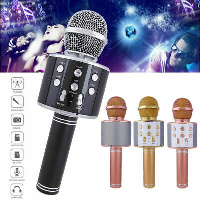 WS858 Handheld Wireless Bluetooth Microphone KTV Karaoke Microphone With Speaker