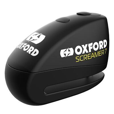 Oxford Screamer Motorcycle Disc Lock Alarm 7mm Motorbike Scooter Silver New