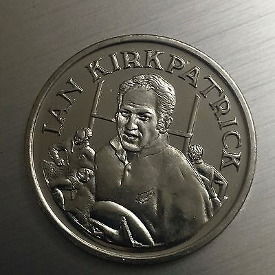 Brian Lochore New Zealand Rugby 15 Great All Black Captains Medal 324//2798C7