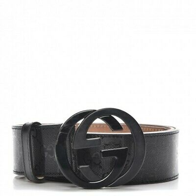 6a89a3b8623 Mens Gucci Black G Monogram Belt Waist Size Upto 34 inch With Gift Bag
