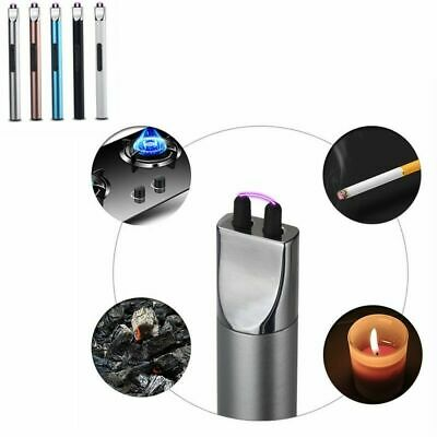 USB Electric Arc Flameless Cigarette Lighter Windproof Plasma With Charge Cable
