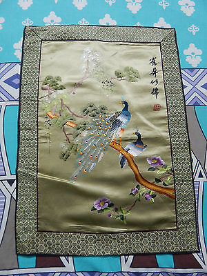 Antique Chinese Beautiful Hand Embroidery Wall Hanging panel 57X41cm (X284)