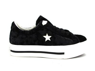c4be09af5a29cd CONVERSE SNEAKERS ONE Star Platform Ox Black White 560996C -  75.04 ...