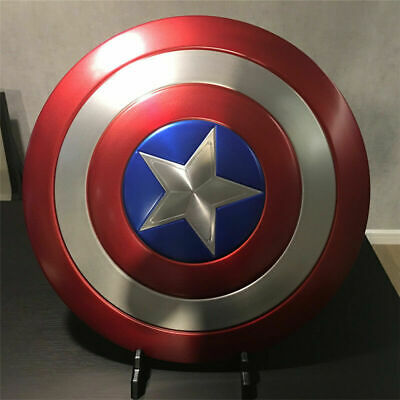 Captain America Shield 1:1 Scale Full Aluminum Metal Shield Replica Cosplay Prop