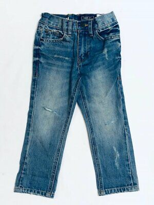 Boys Kids ExNext Denim Jeans Childrens Stretchy Acid Wash Ripped Blue Pants Size