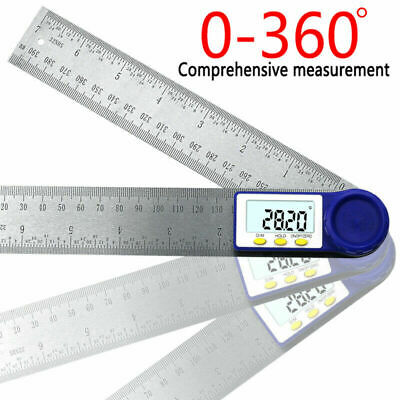 0-200mm Digital LCD Angle Finder Protractor Goniometer Electronic Gauge Ruler MH