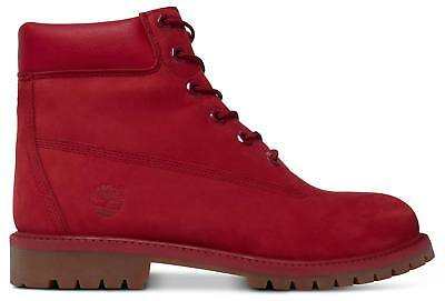b66b5146375 Timberland 6in Premium Bottes pour Femme Chaussures D Hiver Ca13hv Rouge  Neuf