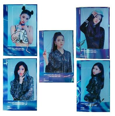 Signed Photo Set ITZY Yuna Ryujin Chaeryeong Lia Yeji ALL5 Members Autograph 029