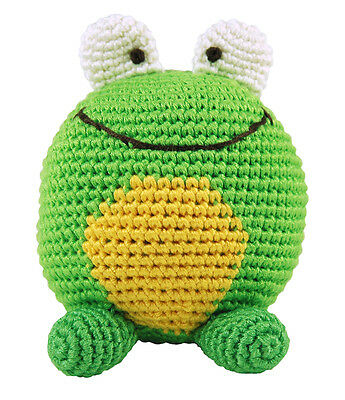 Baby Organic Eco Soft Toy Frog Roly Poly Rattle