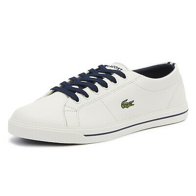 ecb5a3ab3cd4f Lacoste Riberac 119 2 Junior Off White   Navy Trainers Kids Sport Casual  Shoes