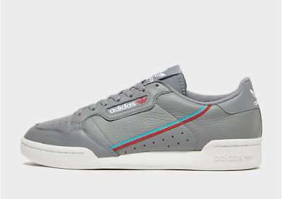 best service 1e775 068ff adidas Originals Mens Continental 80 Trainers Grey White UK Size 8